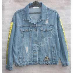 Куртка женская джинсовая (M-L) оптом -50844