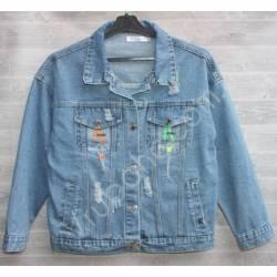 Куртка женская джинсовая (M-L) оптом -50845