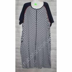 Халат-платье женский батал оптом (58-66)-52876