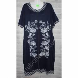Халат-платье женский батал оптом (54-62)-52889
