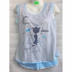 Пижама женская оптом (XL-5XL) -53052