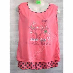 Пижама женская оптом (XL-5XL) -53053