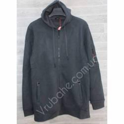 Кофта мужская теплая на флисе Китай (M-3XL) оптом -56989