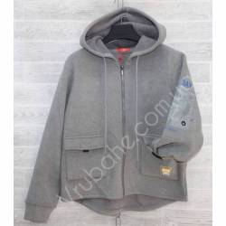 Кофта теплая подростковая на флисе Китай (S-2XL) оптом -57017
