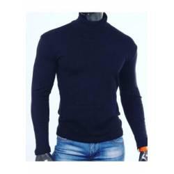 Гольф мужской на флисе Темно-синий (46-56) -42575