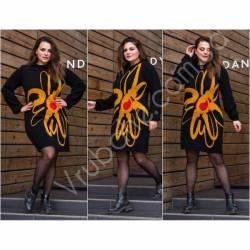 Платье теплое женское оптом(46-56)Украина-63025