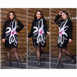Платье теплое женское оптом(46-56)Украина-63026