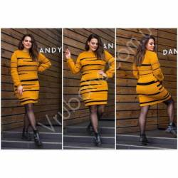 Платье теплое женское оптом(46-56)Украина-63038