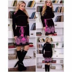 Платье теплое женское оптом(44-52)Украина-63040