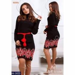 Платье теплое женское оптом(44-52)Украина-63041