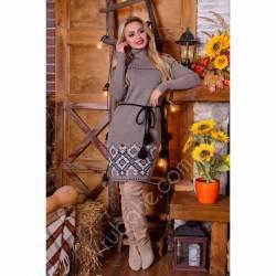 Платье теплое женское оптом(44-52)Украина-63043
