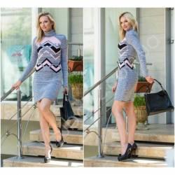 Платье теплое женское оптом(44-52)Украина-63044