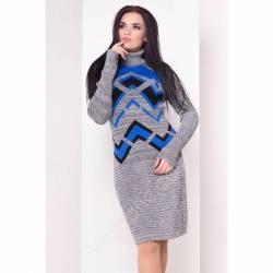 Платье теплое женское оптом(44-52)Украина-63046