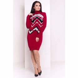 Платье теплое женское оптом(44-52)Украина-63048