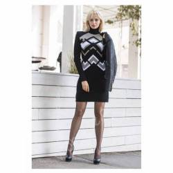 Платье теплое женское оптом(44-52)Украина-63049