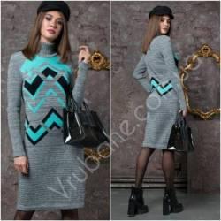 Платье теплое женское оптом(44-52)Украина-63050