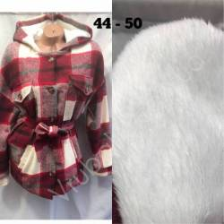 Рубашка женская оптом на меху(44-50)Украина-63058
