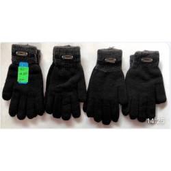 Перчатки мужские оптом двойные Китай 915-63301