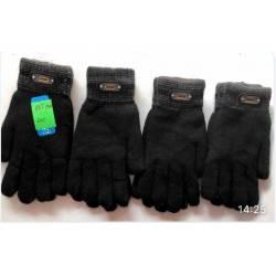 Перчатки мужские оптом двойные внутри мех Китай 816-63302