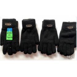 Перчатки подростковые двойные оптом Китай Е1738-2-63316