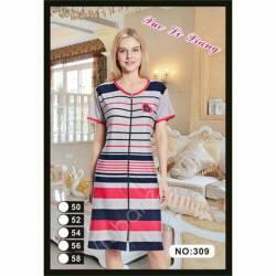 Халат-платье женский полубатал оптом (50-58) 309 - 65105
