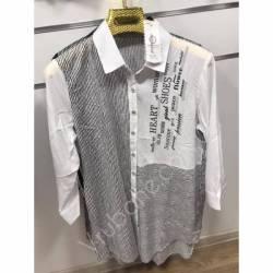 Рубашка женская Батал оптом(52-60)Украина-68904