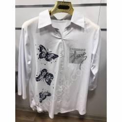 Рубашка женская Батал оптом(52-60)Украина-68908