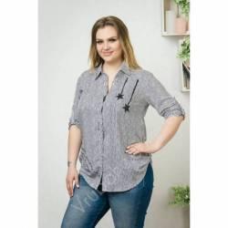 Рубашка женская Батал оптом (52-60) Украина-69961
