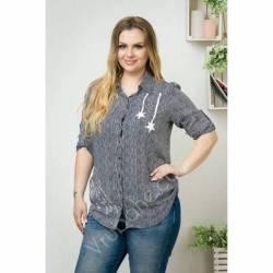 Рубашка женская Батал оптом (52-60) Украина-69962