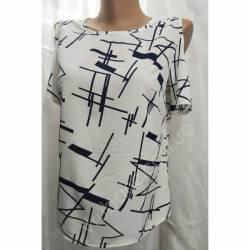Блуза женская норма оптом (42-48) Софт Украина-72801