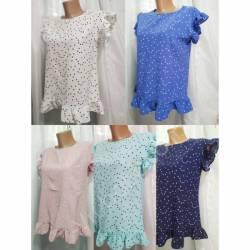 Блуза женская норма оптом (42-48) Софт Украина-72803