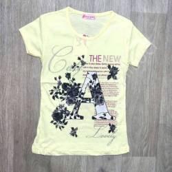 Футболка детская на девочку оптом (7-10 лет) Турция-73526
