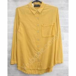 Рубашка женская оптом (S-2XL) Турция-74956
