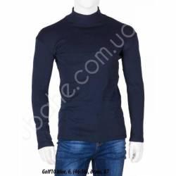 Гольф мужской на флисе стойка Темно-синий (46-56) -79295