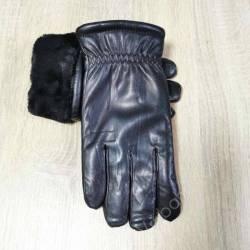 Перчатки мужские кожзам оптом (10,5-12,5)Китай-80565