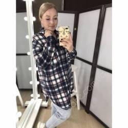 Рубашка женская удлиненая оптом (42-48)Украина 2179-80685