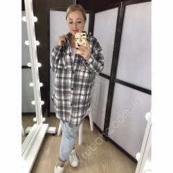 Рубашка женская удлиненая оптом (42-48)Украина 2179-80686
