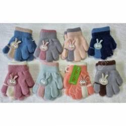 Перчатки детские на девочку оптом (1-2 года)Китай А612-80828