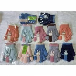 Перчатки детские на девочку оптом (2-5 лет)Китай А612-80829
