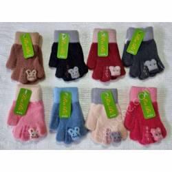 Перчатки детские на девочку оптом (2-3 года)Китай А632-80830