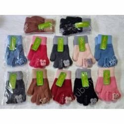 Перчатки детские на девочку оптом (3-5 лет)Китай А632-80831