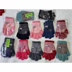 Перчатки детские на девочку оптом (3-5)Китай А619-80833