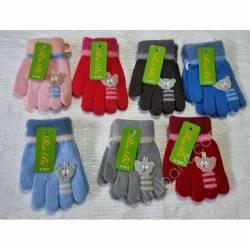 Перчатки детские на девочку оптом (1-2 года)Китай А633-80836