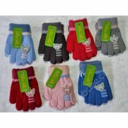 Перчатки детские на девочку оптом (3-5 лет)Китай А633-80837