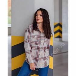 Рубашка женская кашемир оптом (42-48)Украина 1128-80860