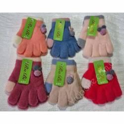 Перчатки детские на девочку оптом(2-3 года)Китай А617-80913