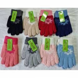 Перчатки детские на девочку оптом(2-3 года)Китай А615-80915