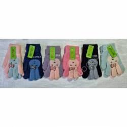 Перчатки подростковые на девочку оптом(8-12 лет)Китай А622-80927