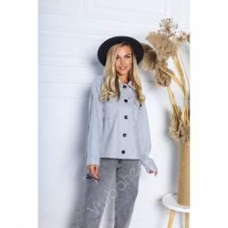 Рубашка-пальто женское оптом (42-48)Украина 2176-80983