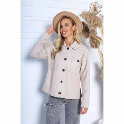 Рубашка-пальто женское оптом (42-48)Украина 2176-80985